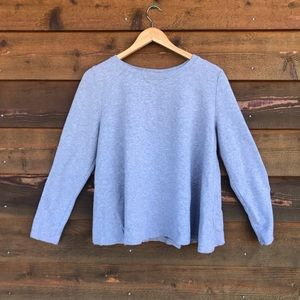 Eri + Ali Grey Flare Long Sleeve Sweatshirt